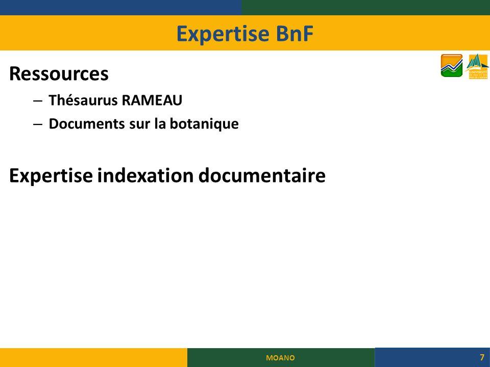 Expertise BnF MOANO 7 Ressources – Thésaurus RAMEAU – Documents sur la botanique Expertise indexation documentaire