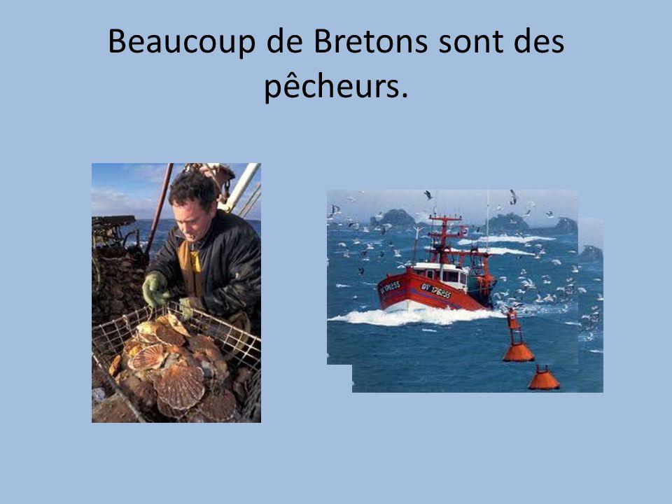 Beaucoup de Bretons sont des pêcheurs.