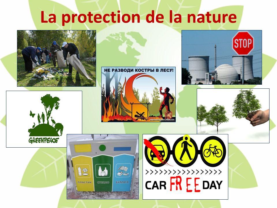 La protection de la nature