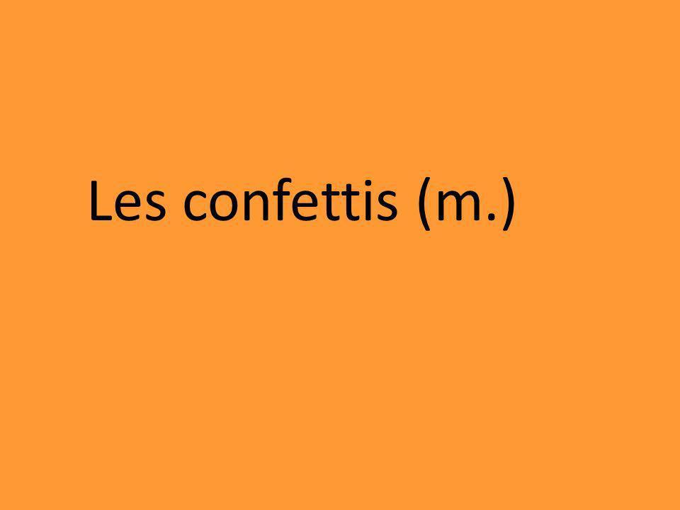 Les confettis (m.)