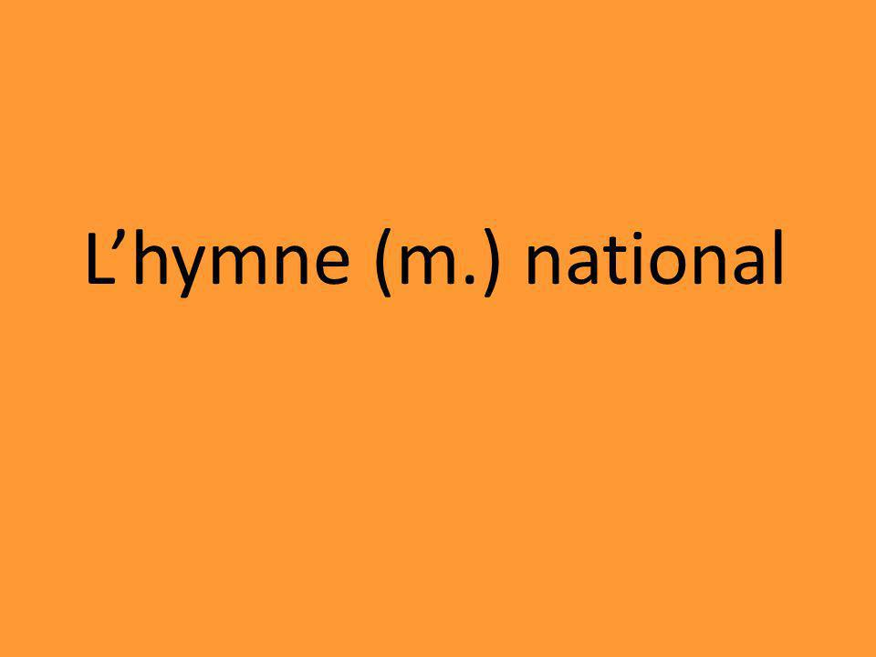 Lhymne (m.) national