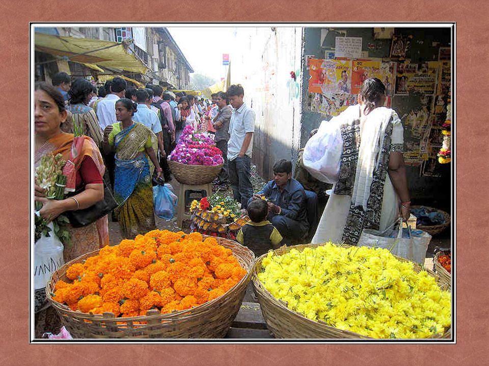 Un marché dans Bombay.