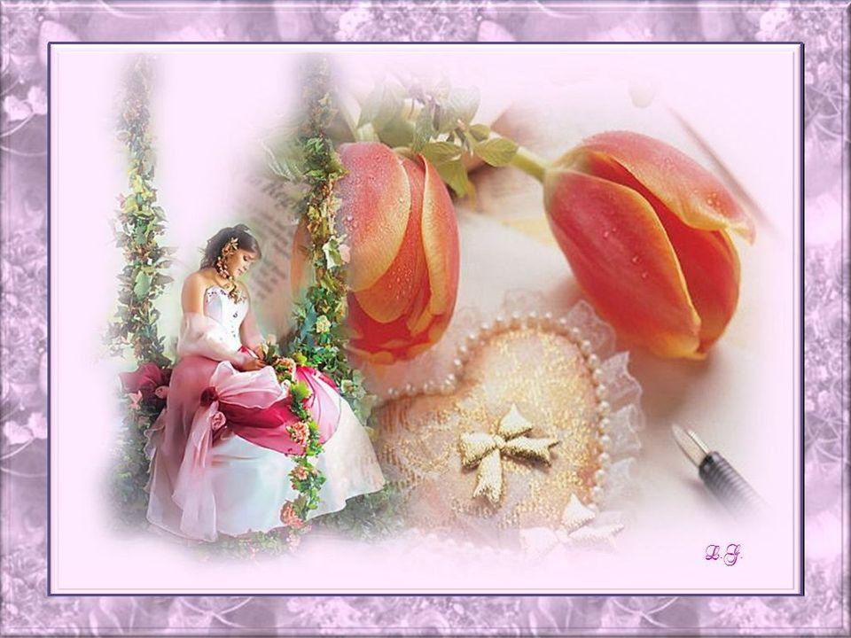 Elles se pointent vers le ciel en douceur; Les fleurs ont un sourire au fond du cœur; Quelles soient dans les champs ou au jardin, Elles séveillent da