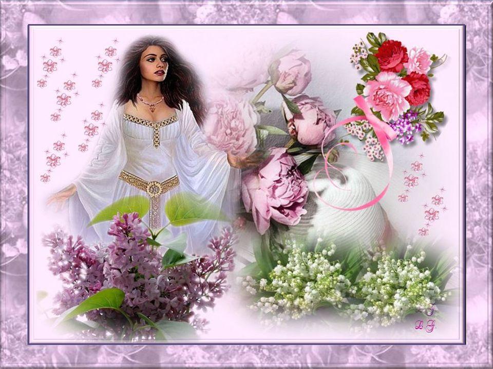 Jaime la rose exaltée et romantique; Le camélia qui est gracieux et unique; Léglantine qui nous parle de bonheur; La marguerite avec le regard enchant
