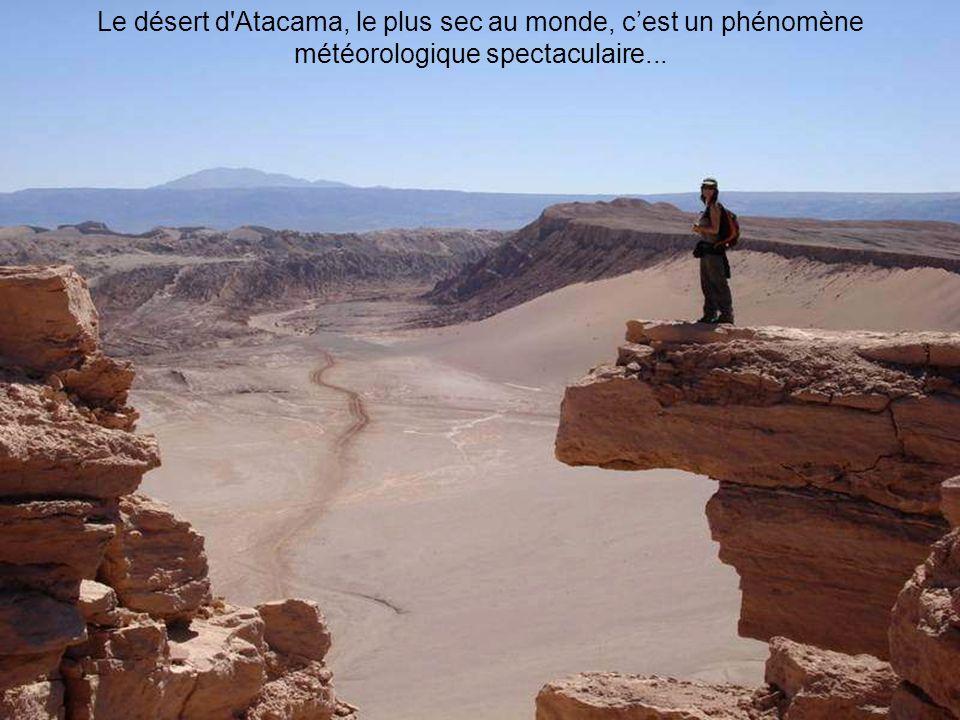 Le désert d Atacama, le plus sec au monde, cest un phénomène météorologique spectaculaire...