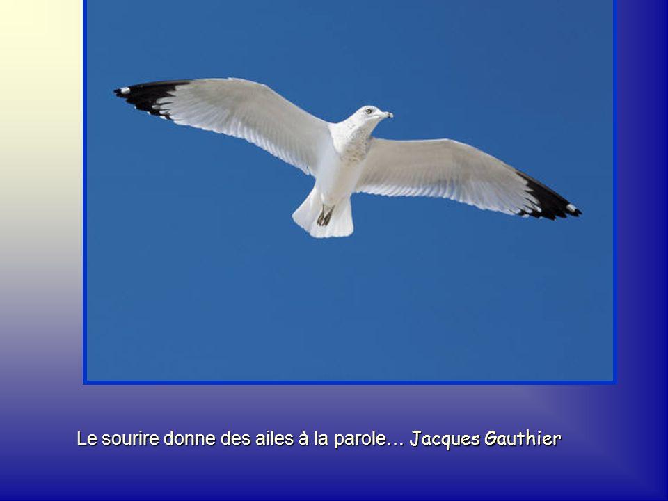 Le sourire donne des ailes à la parole… Jacques Gauthier