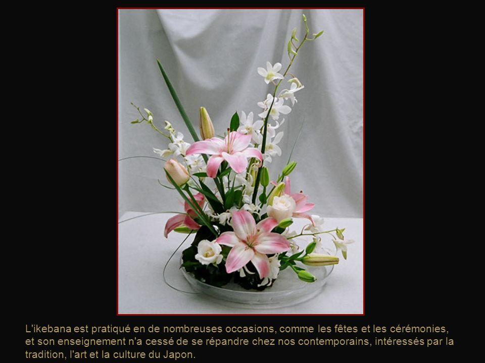 Aujourd'hui, les arrangements floraux sont considérés comme l'un des cinq arts traditionnels japonais.