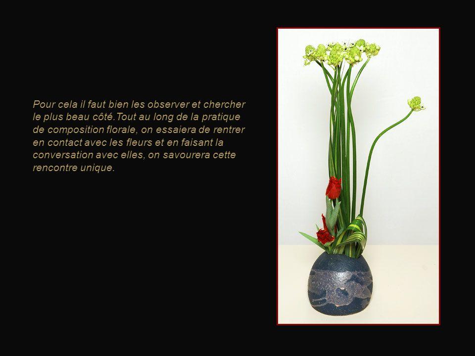 L'Ikebana c'est d'abord savoir regarder les plantes, les rencontrer pour de belles compositions.