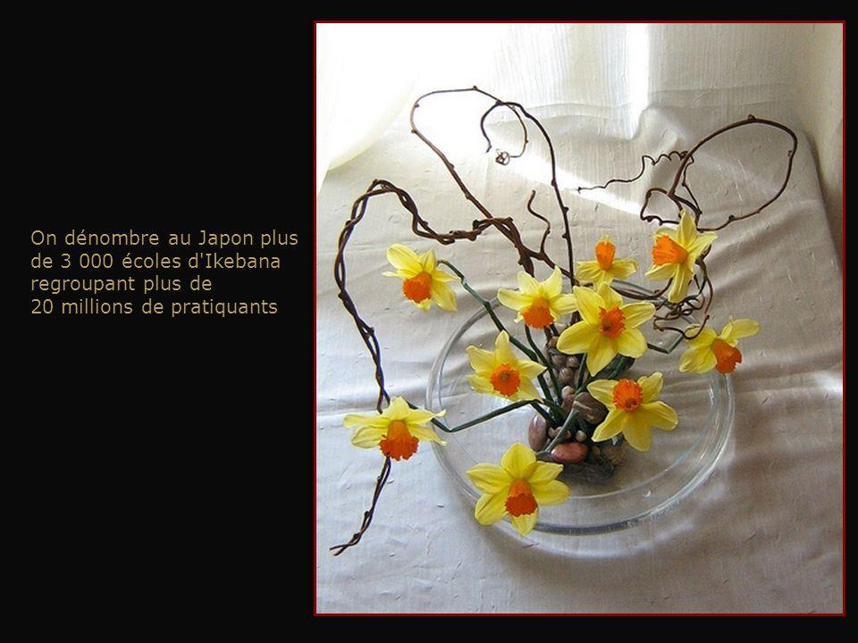 Le chrysanthème blanc évoque rivières et ruisseaux. Le bambou symbolise la prospérité. Les branches de pin symbolisent les rochers et les pierres. Las