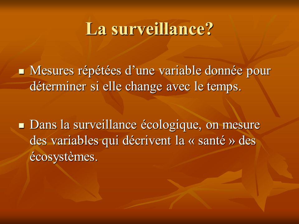 La surveillance.