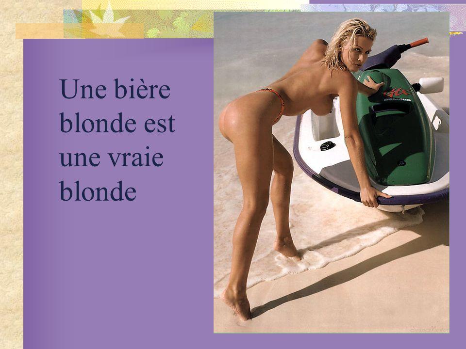 Une bière blonde est une vraie blonde