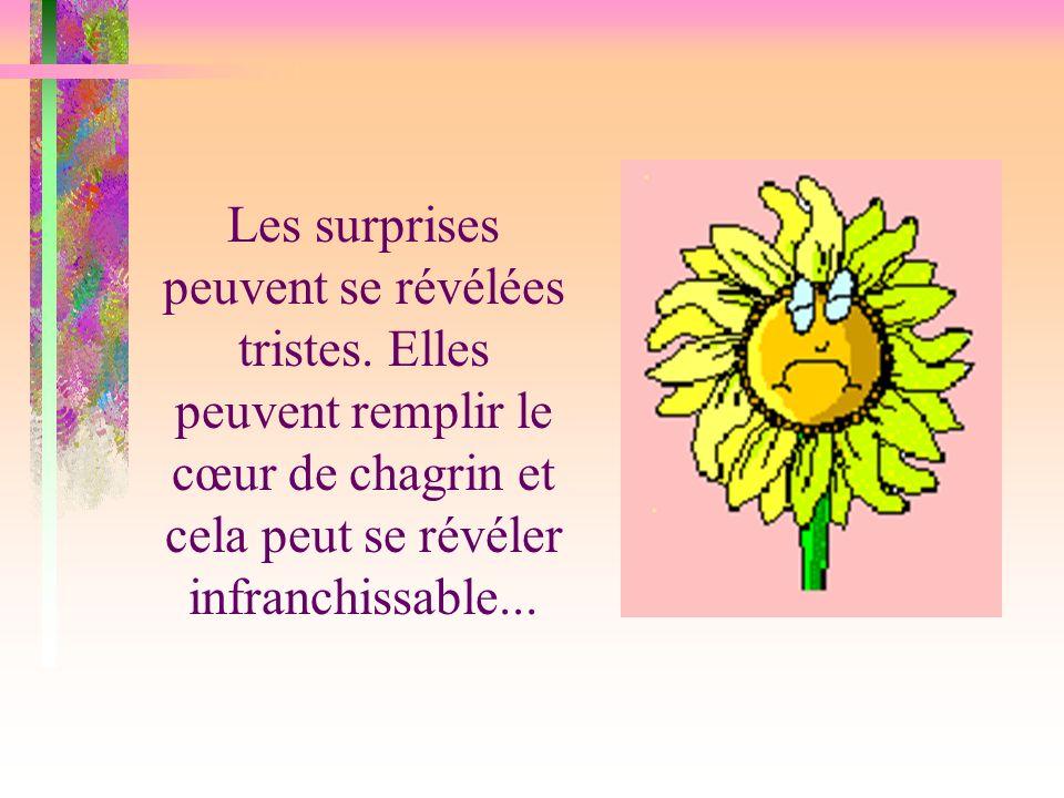 Mais quelques fois, il peut arriver des surprises à lesquelles tu ne t attendais pas du tout !