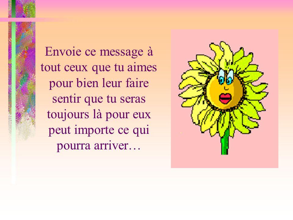 Garde ce message en tête tout au long de ta journée... Et surtout, garde ton beau sourire……. La vie n en sera que plus belle…...