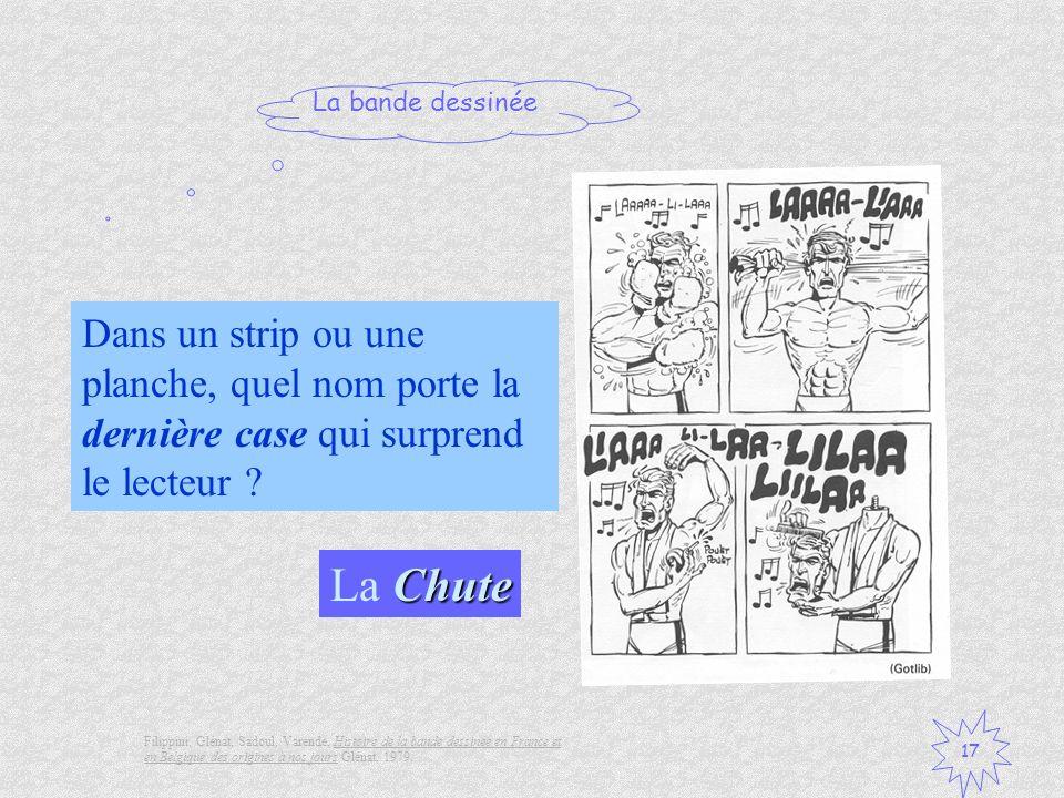 La bande dessinée 17 Chute La Chute Filippini, Glénat, Sadoul, Varende, Histoire de la bande dessinée en France et en Belgique des origines à nos jour