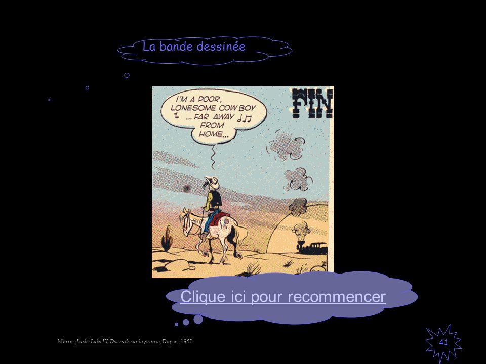 La bande dessinée 41 Morris, Lucky Luke IX, Des rails sur la prairie, Dupuis, 1957. Clique ici pour recommencer