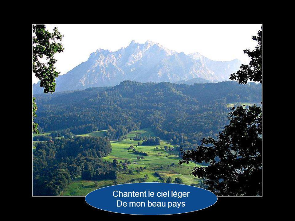 Et, comme les bergers Des montagnes de France,