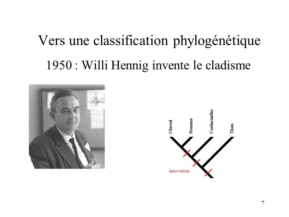 18 Un outil : « Phylogène » www.inrp.fr/Acces/biotic/evolut/phylogene/accueil.htm
