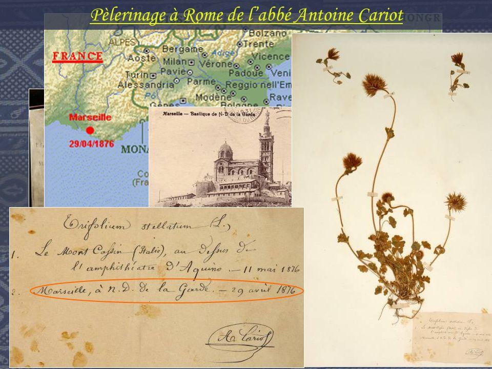 Pèlerinage à Rome de labbé Antoine Cariot