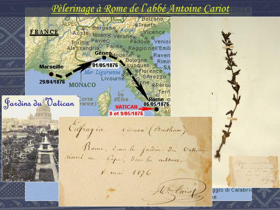 Jardins du Vatican Pèlerinage à Rome de labbé Antoine Cariot