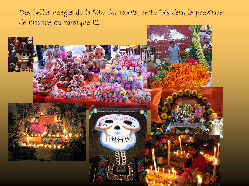 De nos jours ces traditions nont pas beaucoup changé et on peut toujours les observer intactes dans les provinces de Oaxaca et de Michoacán. Jai eu la