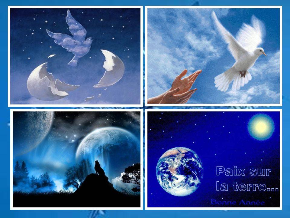 DECEMBRE Dun trait de plume, décembre finit lannée et la paix protège la terre de son aile blanche comme la neige