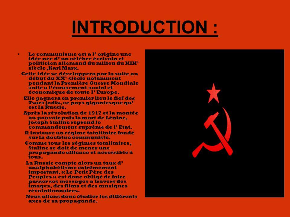 INTRODUCTION : Le communisme est a l origine une idée née d un célèbre écrivain et politicien allemand du milieu du XIX° siècle,Karl Marx.