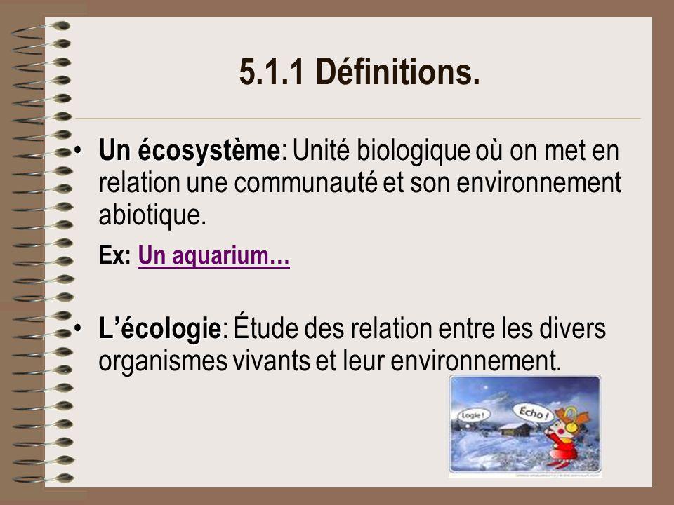 5.1.6 Le niveau trophique Certains organismes peuvent occuper une seule position dans un réseau trophique (herbivores = consommateurs primaires) alors que dautres peuvent en occuper plusieurs (omnivores = consommateurs primaires, secondaires, tertiaires…)