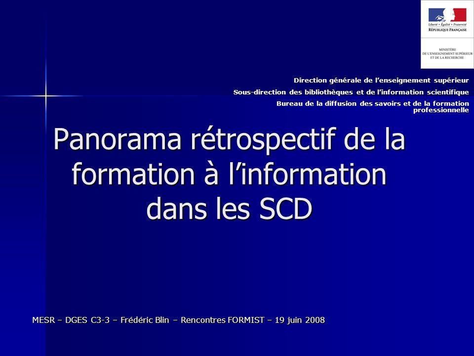 12 MESR – DGES C3-3 – Frédéric Blin – Rencontres FORMIST – 19 juin 2008 Merci de votre attention.