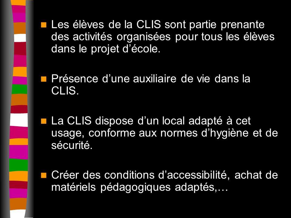 Les élèves de la CLIS sont partie prenante des activités organisées pour tous les élèves dans le projet décole.