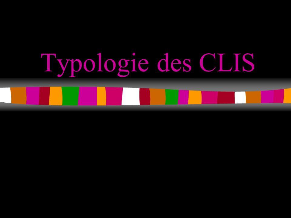 Typologie des CLIS