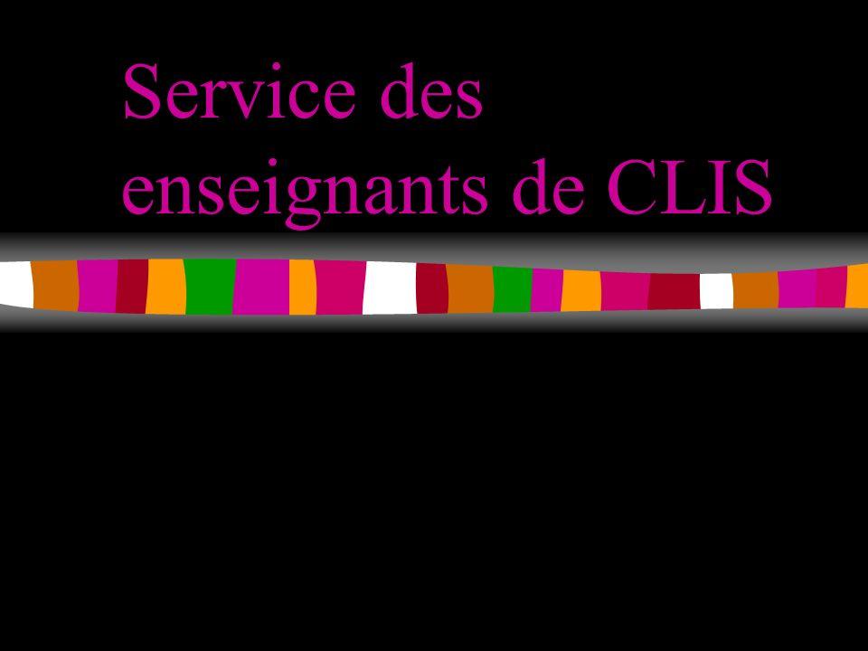 Service des enseignants de CLIS