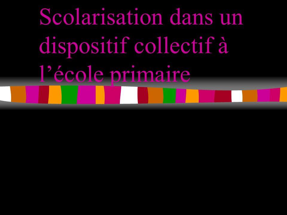 Scolarisation dans un dispositif collectif à lécole primaire