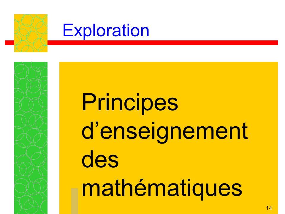 14 Exploration Principes denseignement des mathématiques