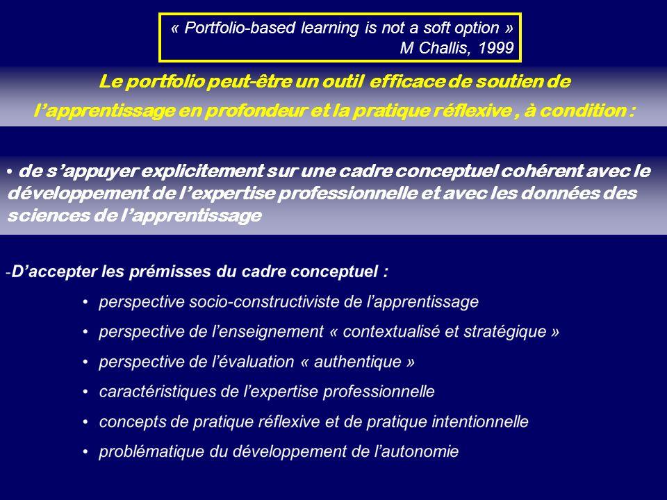 de sappuyer explicitement sur une cadre conceptuel cohérent avec le développement de lexpertise professionnelle et avec les données des sciences de la