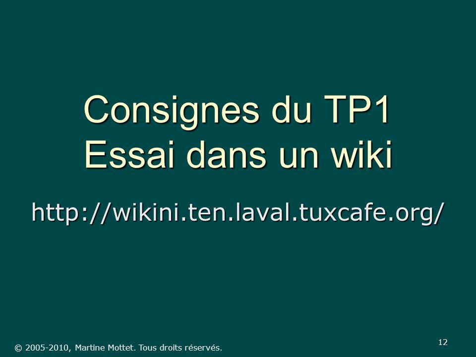 © 2005-2010, Martine Mottet. Tous droits réservés.