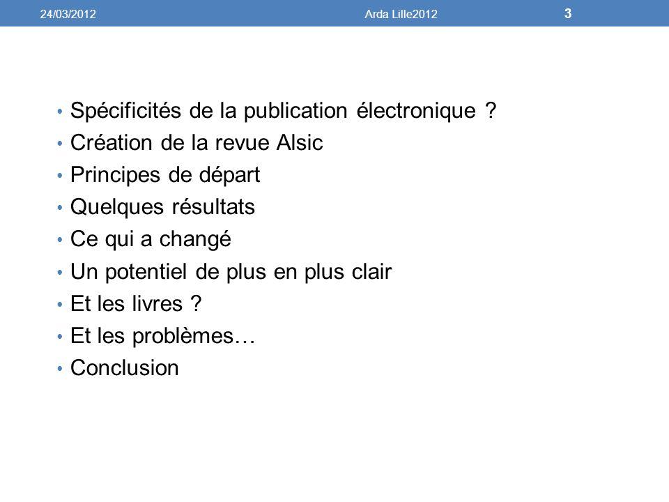 Spécificités de la publication électronique .