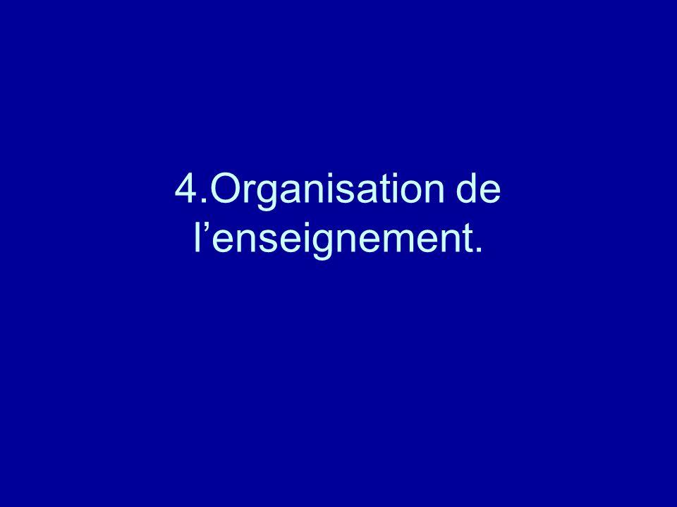 4.Organisation de lenseignement.