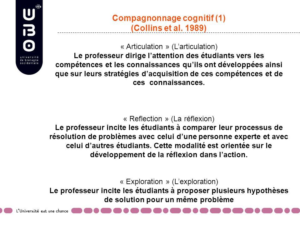 Compagnonnage cognitif (1) (Collins et al.
