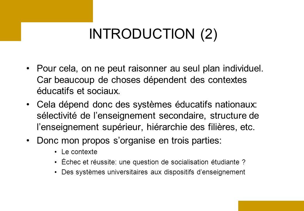INTRODUCTION (2) Pour cela, on ne peut raisonner au seul plan individuel.