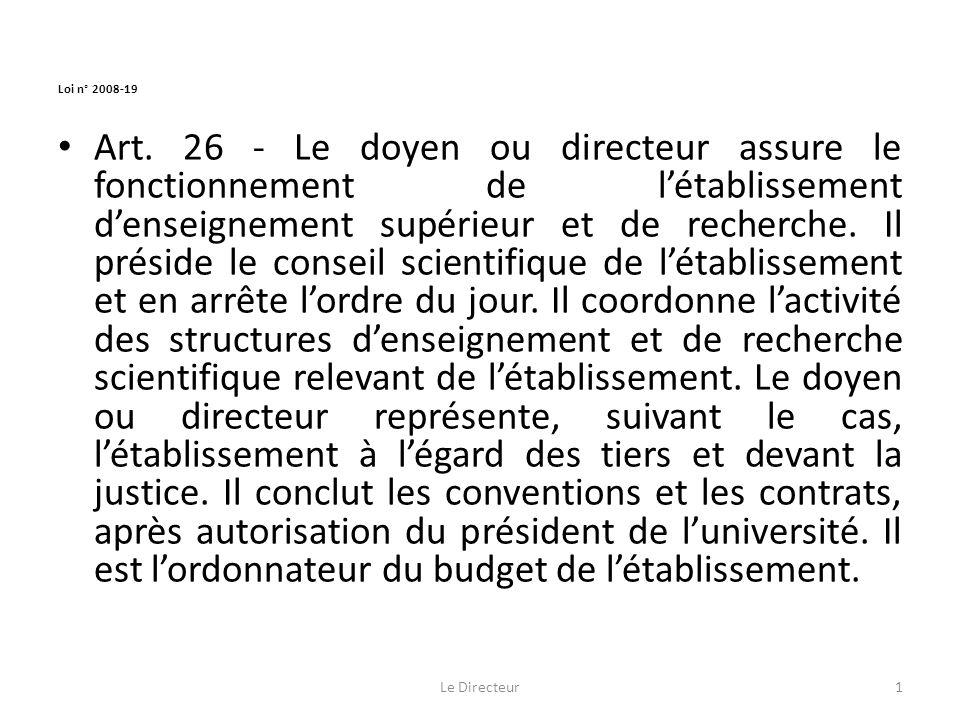 Loi n° 2008-19 Art.