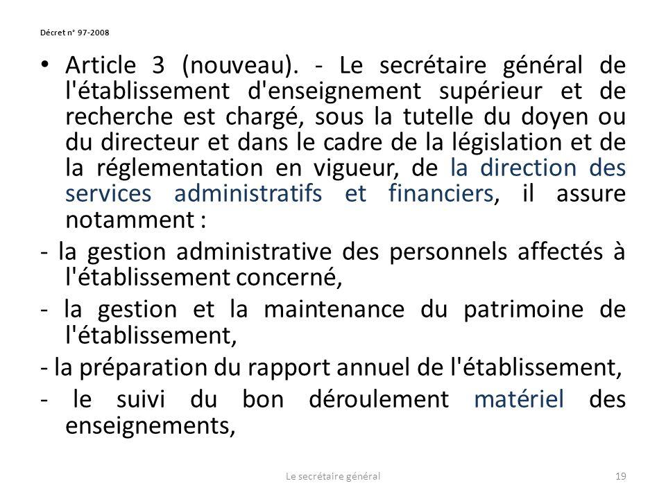 Décret n° 97-2008 Article 3 (nouveau).