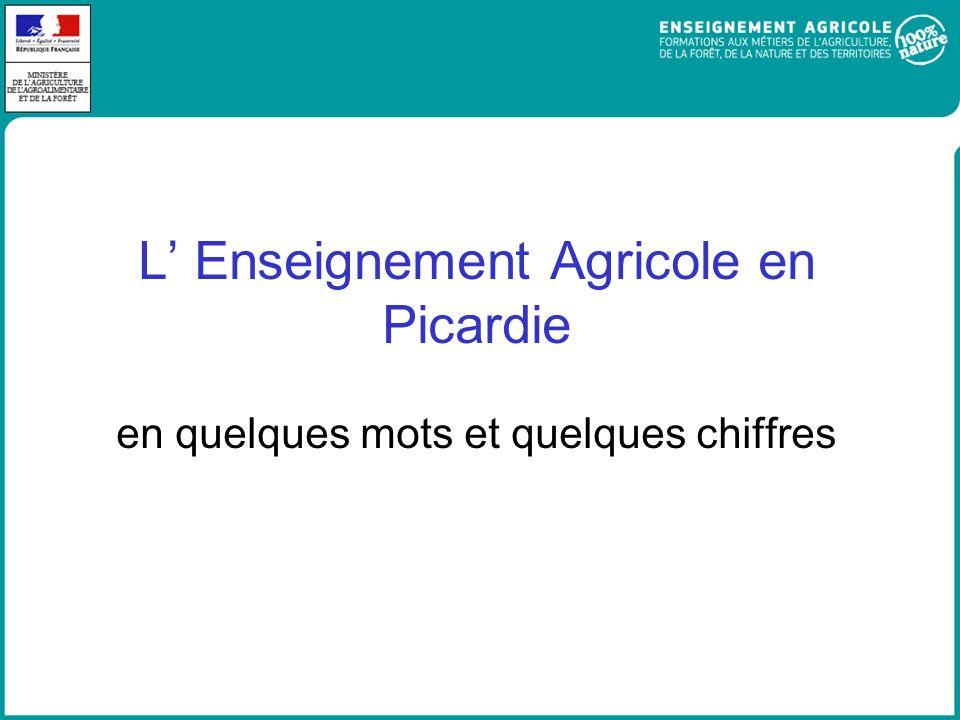 L Enseignement Agricole en Picardie en quelques mots et quelques chiffres