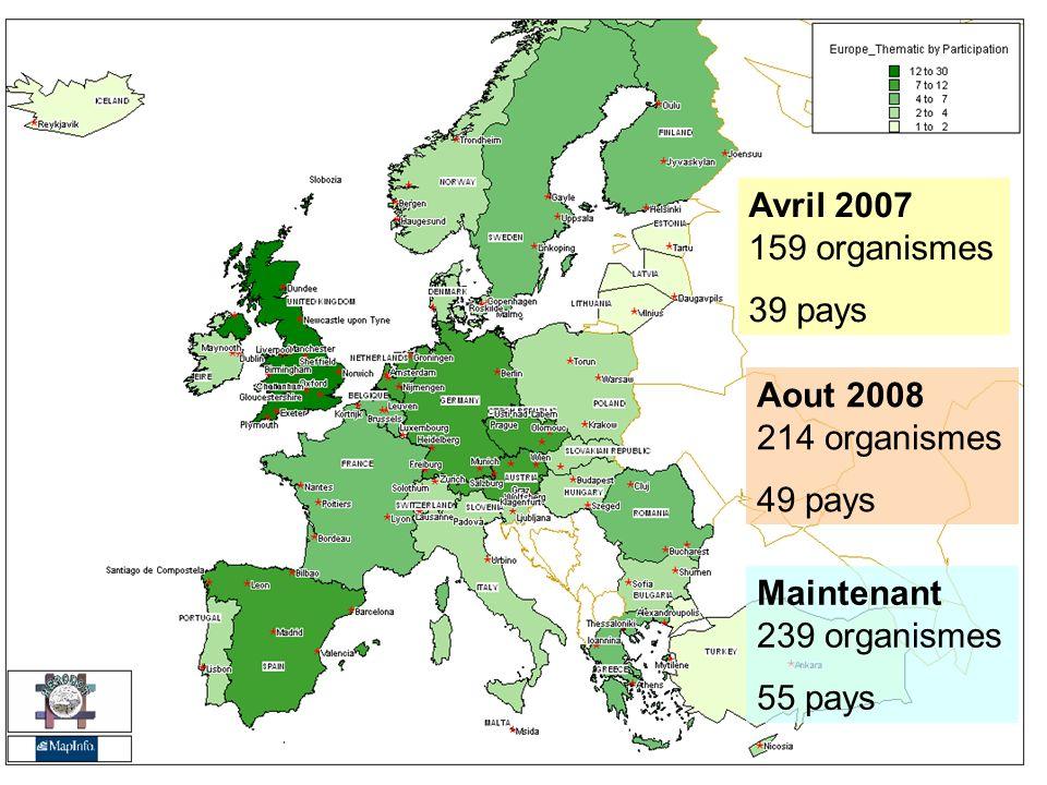 HERODOT Thématique 2006-2009 Analyse des besoins des membres Priorités Européennes La dimension européenne La Géographie du 21 e siècle Lenseignement innovateur La formation tout au long de la vie