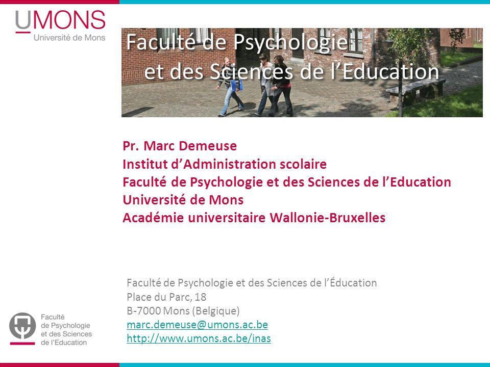 Faculté de Psychologie et des Sciences de lEducation Pr.