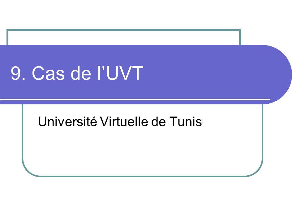 9. Cas de lUVT Université Virtuelle de Tunis