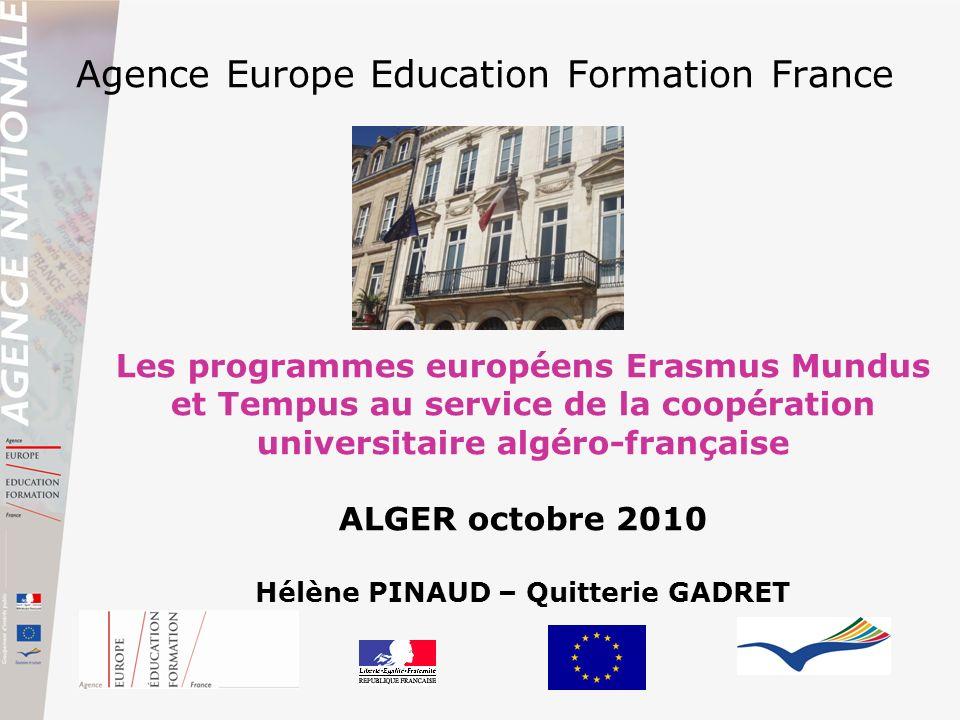 Agence Europe Education Formation France Les programmes européens Erasmus Mundus et Tempus au service de la coopération universitaire algéro-française