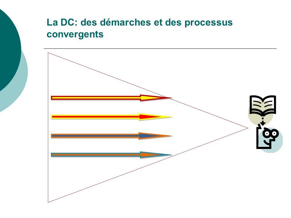 La DC: des démarches et des processus convergents