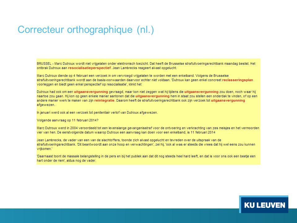 Correcteur orthographique (nl.)