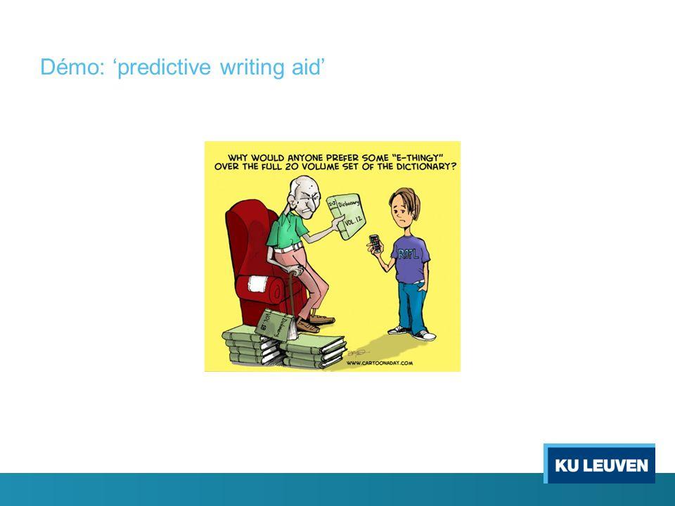 Démo: predictive writing aid