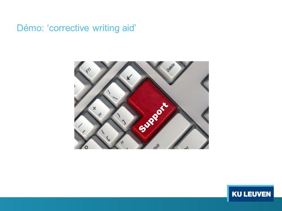 Démo: corrective writing aid